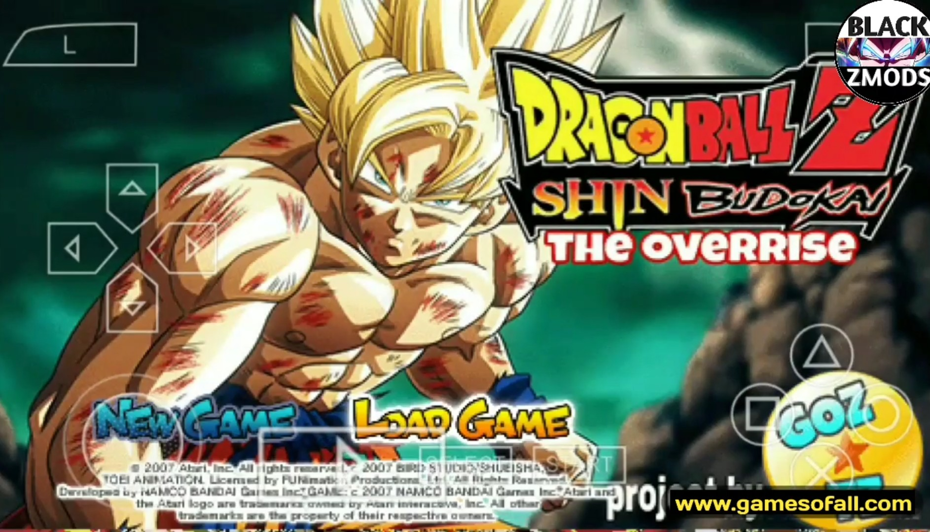 DBZ Shin Budokai 2 The Overise PPSSPP Download