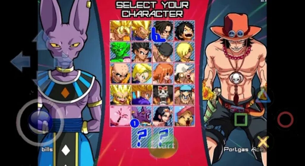 All Characters in this Mugen Apk